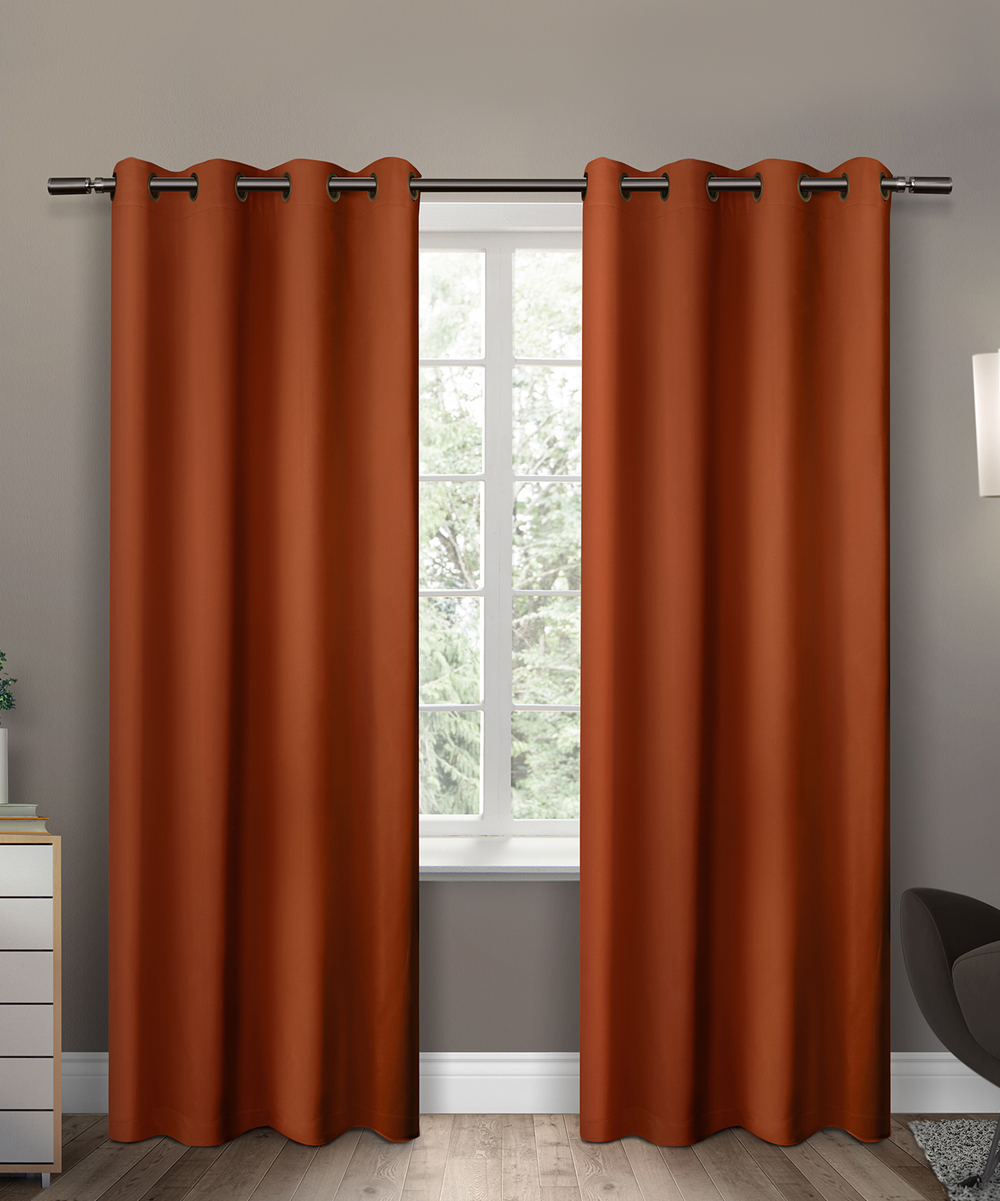 Love This Product Orange Insulated Blackout Curtain Panel Set Of Two