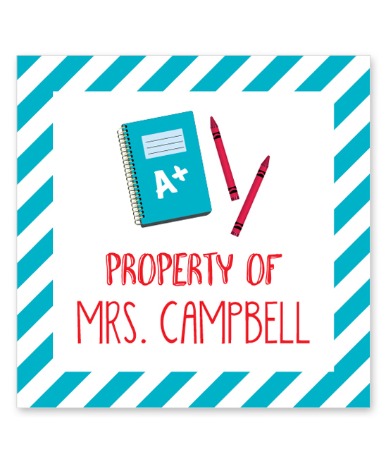 Chickabug Notebook 'Property Of' Personalized Stickers - Set of 12