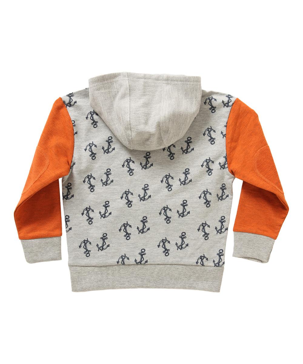 be07c9c20292 Rockin Baby Orange   Gray Anchors Sam Hoodie - Infant