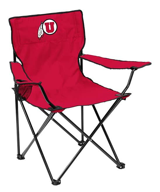 Logo Chair Inc.  Camp Furniture  - Utah Utes Quad Chair