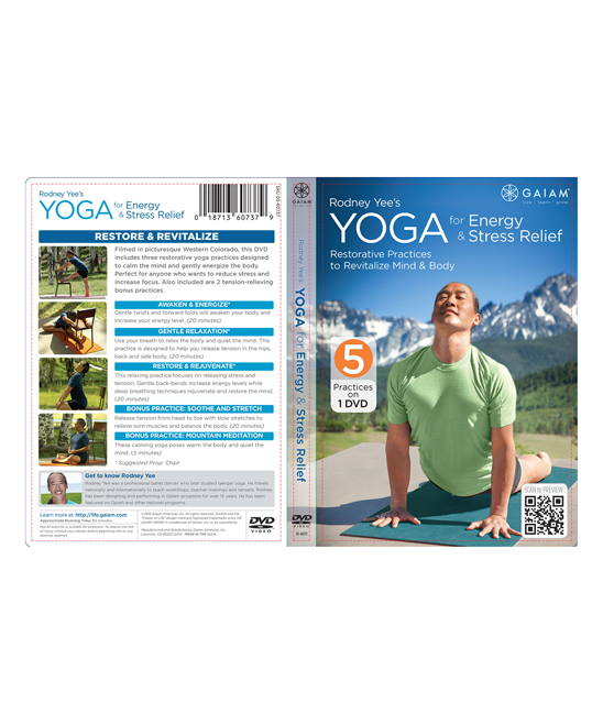 Gaiam Rodney Yee's Yoga for Energy & Stress Relief DVD
