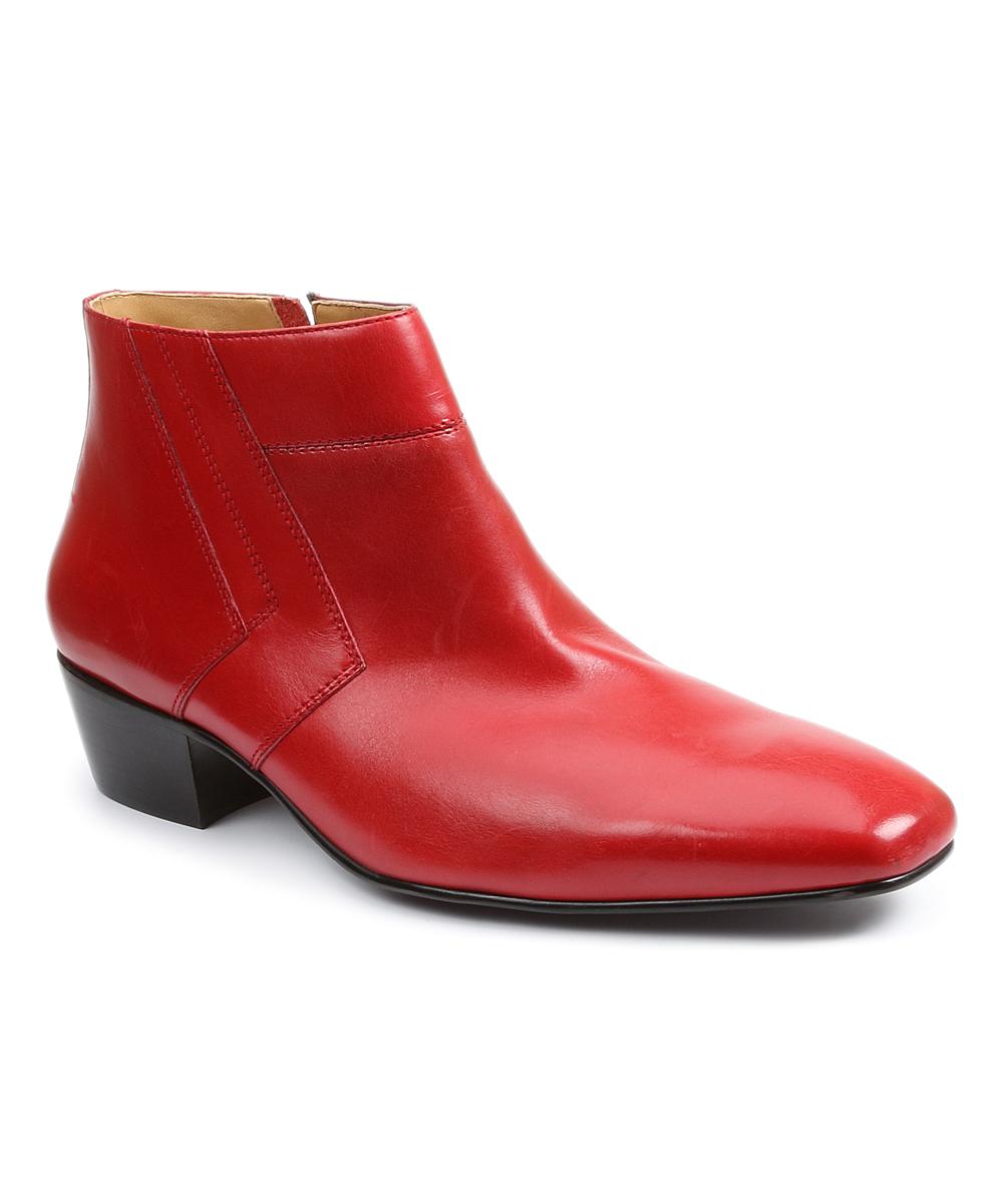 be9e11575fec8 Giorgio Brutini Red Blackjack Leather Ankle Boot