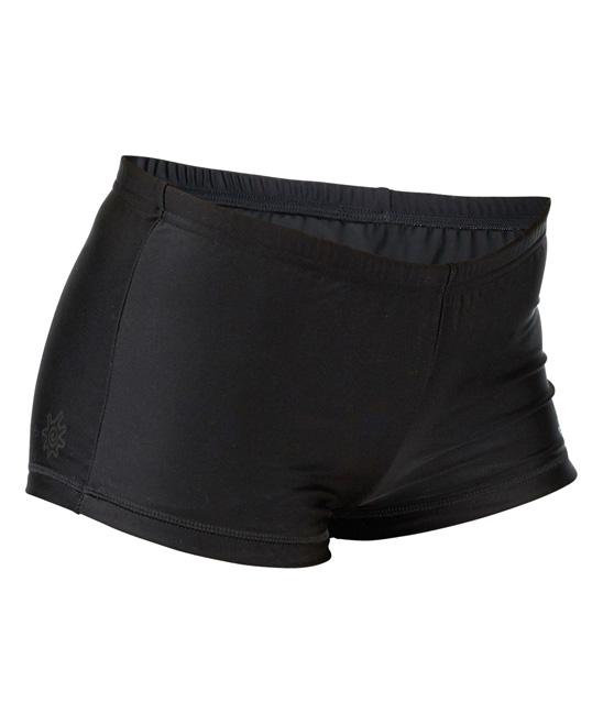 0d3bb5e3e04 UV Skinz Black BoyShorts Bikini Bottoms - Plus