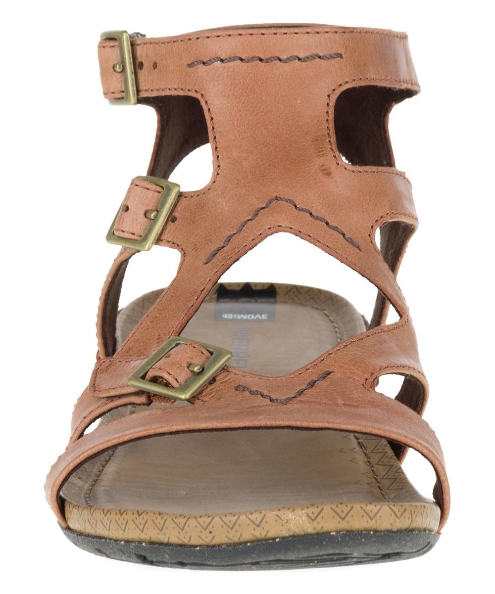 c976d116985 all gone. Tan Whisper Buckle Leather Sandal