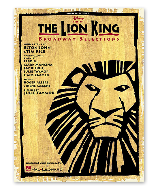 The Lion King Broadway Piano & Vocal Songbook
