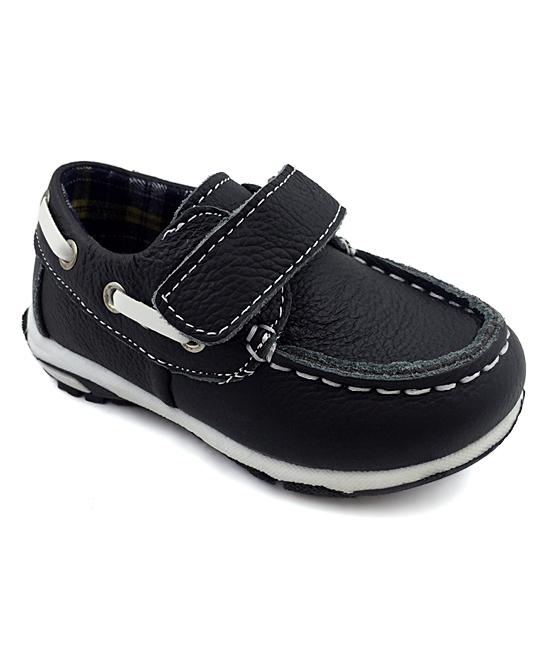 Chulis Footwear Boys' Boat Shoes BLACK - Black Cuby Boat Shoe - Boys