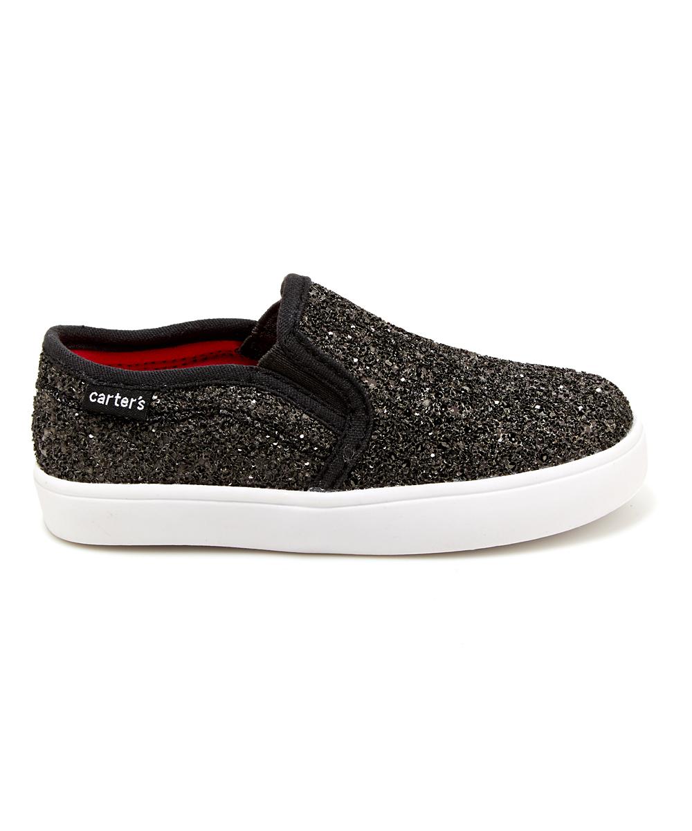 70abd9332d8f love this product Black Glitter Tween Slip-On Sneaker - Girls
