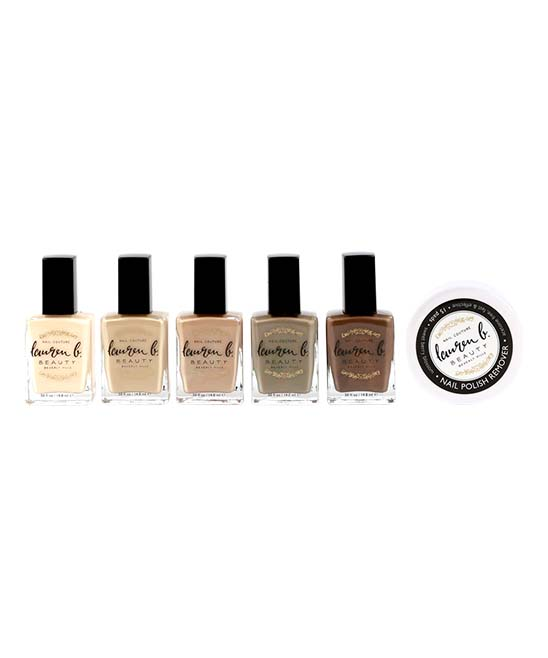 Lauren B. Beauty Women's Nail Polish Assorted - Nude Lacquer Collection