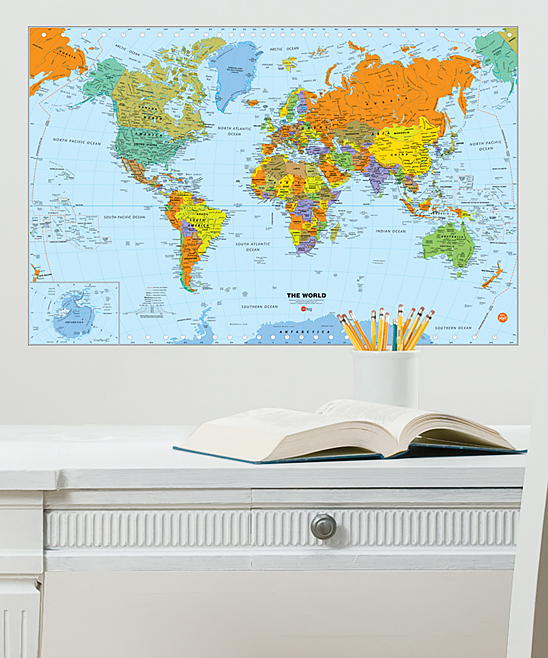 WallPops! World Dry Erase Map Decal on