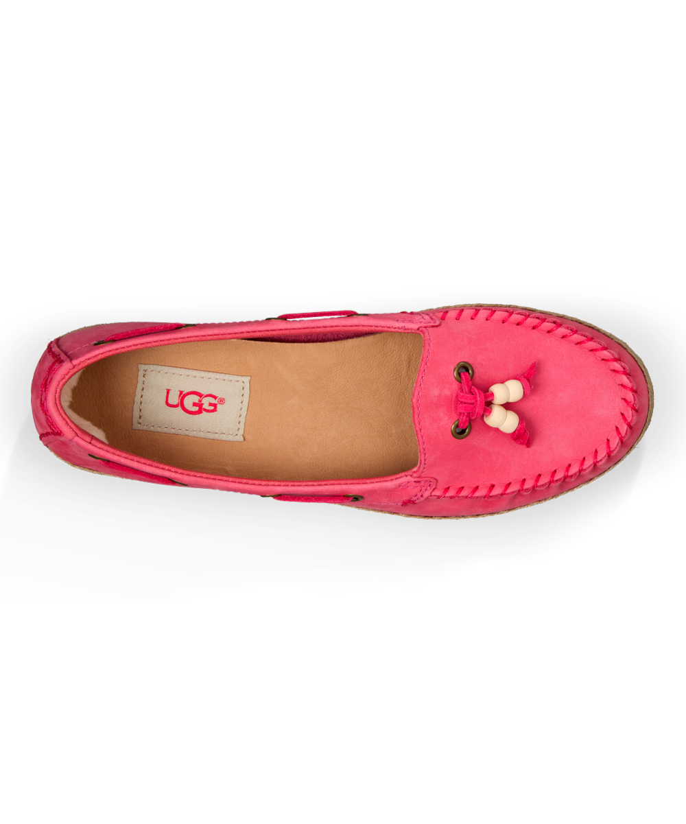 e32cf67b602 UGG® UGG® Sunset Red Suzette Nubuck Moccasin