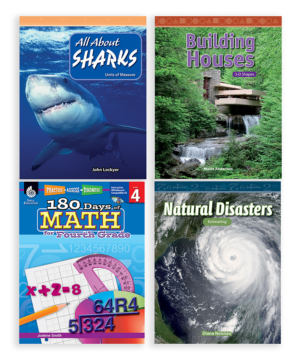 Shell Education  Educational Workbooks  - Grade 4 Learn-at-Home: Math Bundle