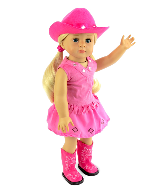 5778a633a6e American Fashion World Hot Pink Little Cowgirl Outfit for 18 Doll ...