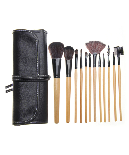 Zoe Ayla Cosmetics  Makeup Brushes Wood - 12-Piece Wood Professional Make-Up Brush Set