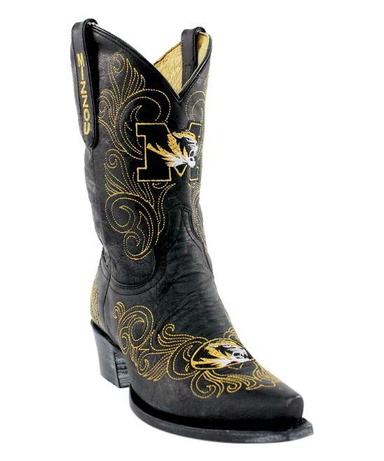 4b221531046 Gameday Boots Missouri Tigers Black Short Leather Cowboy Boot - Women