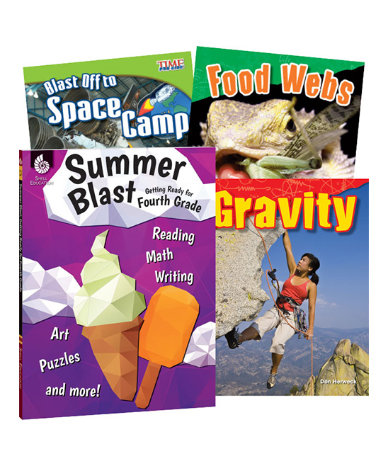 Shell Education  Educational Workbooks  - Learn-at-Home: Summer STEM Bundle Grade 4