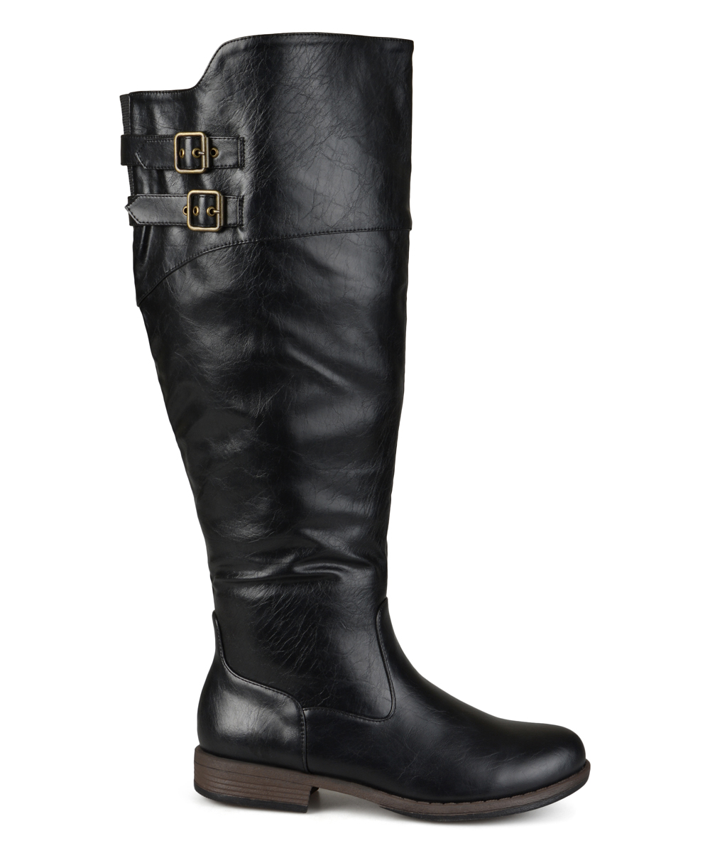 04d4e62faaa Journee Collection Black Tori Extra Wide-Calf Riding Boot