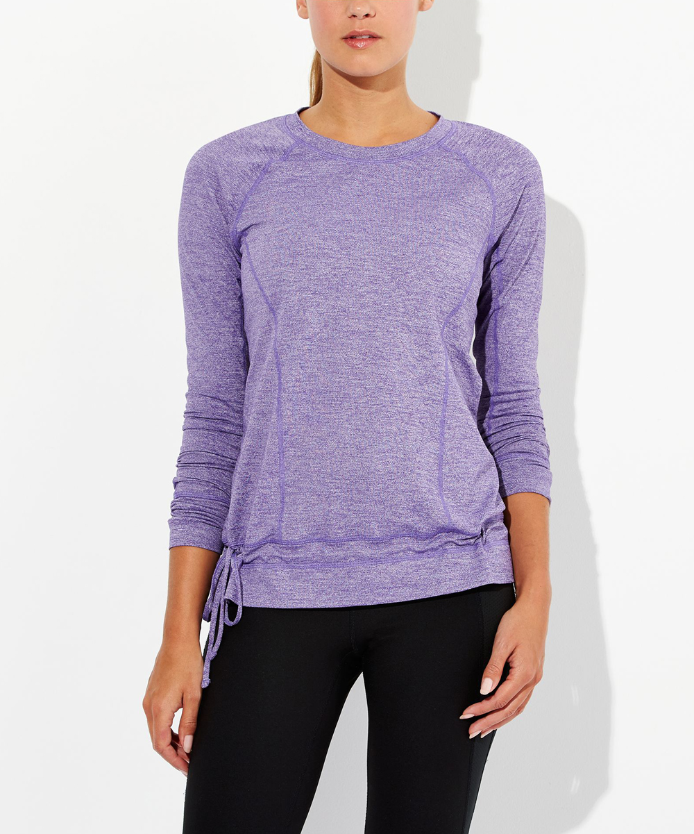 206f7c7e5 lucy Royal Purple Heather Jog For Joy Long-Sleeve Tee | Zulily