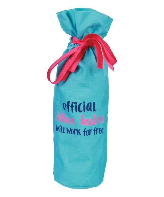 DEI    - Blue 'Official Wine Taster' Wine Bag