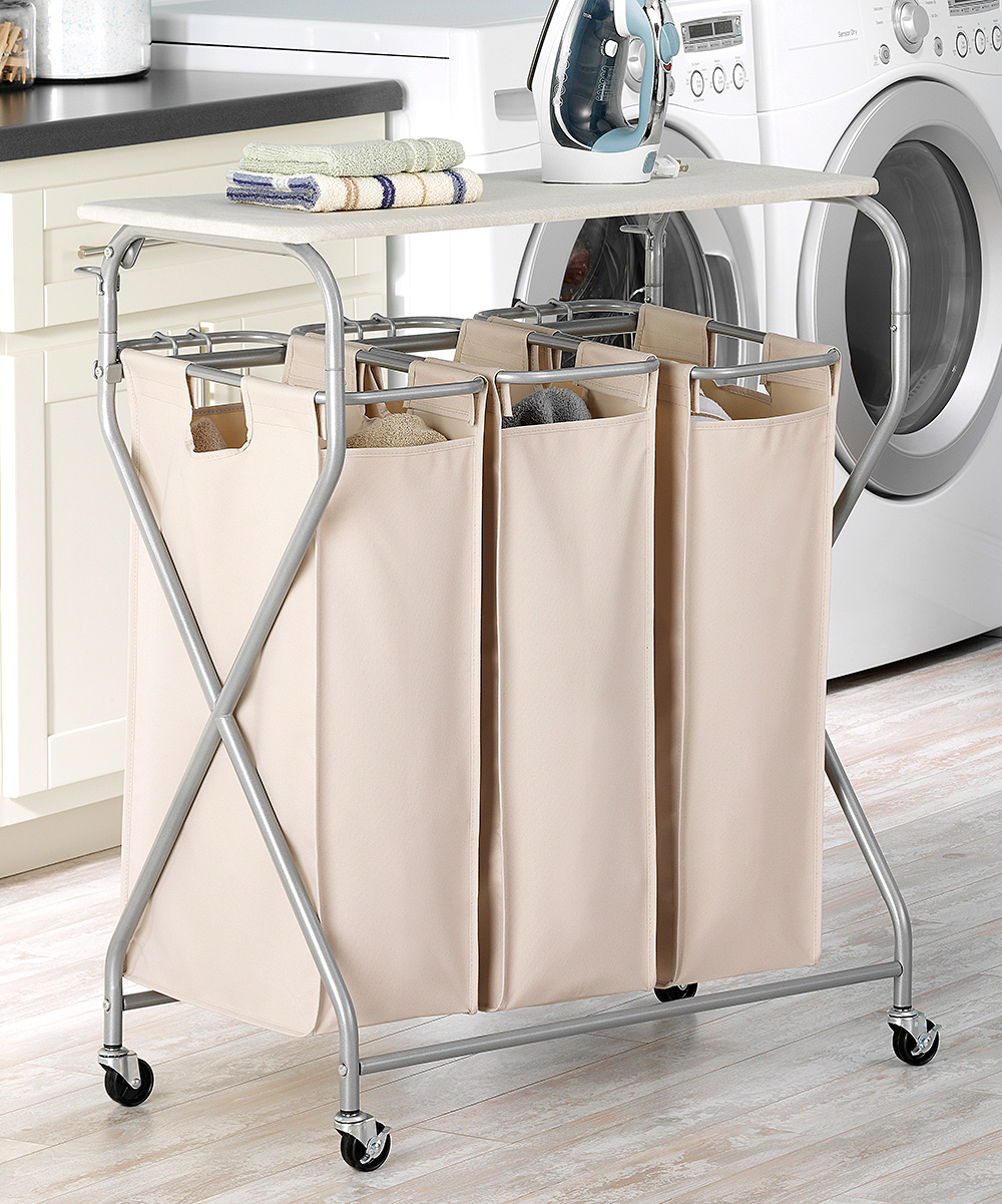 Easy Lift Triple Laundry Sorter Table