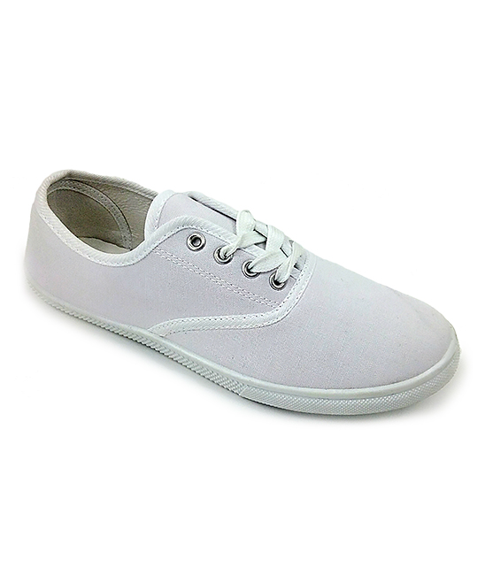 Ositos Shoes Women's Sneakers WHITE - White Classic Lace-Up Sneaker - Women