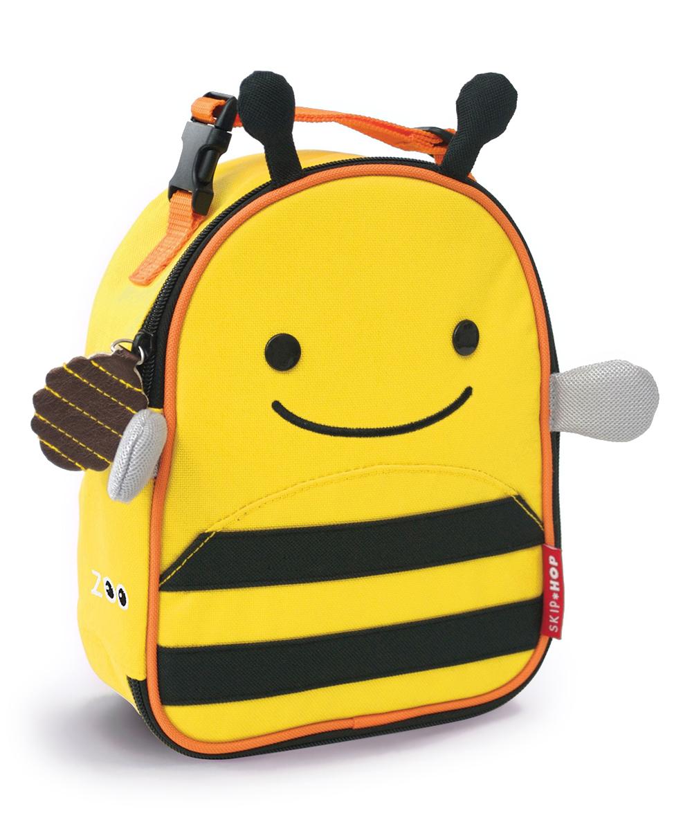"Skip Hop Zoo Kids Insulated Lunch Box, Brooklyn Bee, 9""x3.25""x7.5"", Yellow"