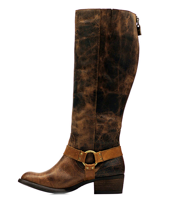 132115bba50 Vestiture Tobacco Alamo Extra Wide-Calf Leather Boot - Women