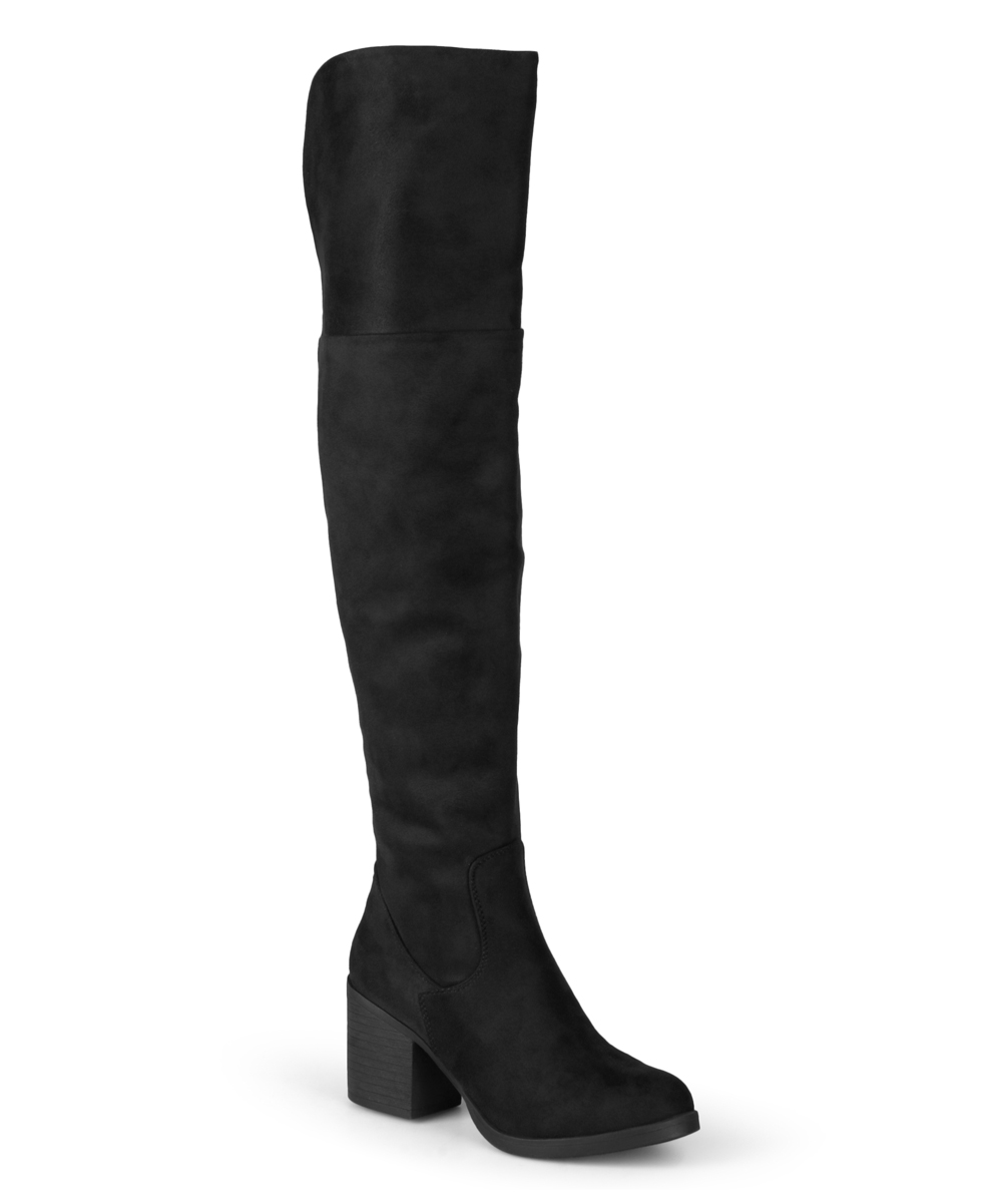 64ecfc83d34a Journee Collection Black Sana Over-the-Knee Boot
