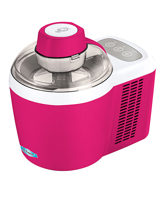 Elite  Ice Cream Makers  - Berry Thermoelectric Ice Cream Maker Berry Thermoelectric Ice Cream Maker. Make your own frozen treats with this easy-to-use ice cream maker, sporting a sleek design to save you space. A unique feature allows the adjustment of the hardness or softness of your ice cream to your liking. 11'' W x 12'' H x 12'' DHolds 24 oz.Plastic / aluminumHand washImported