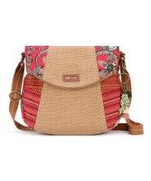 Sakroots Crimson Floral & Stripe Artist Circle Crossbody Bag Deals