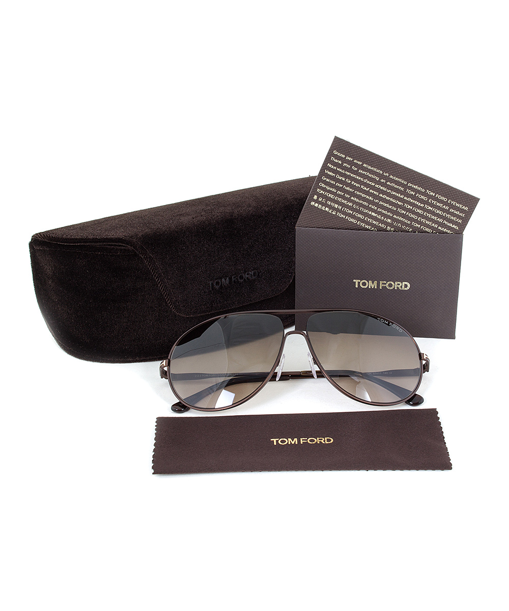 b118e536a7405 Tom Ford Dark Brown Cliff Sunglasses - Unisex