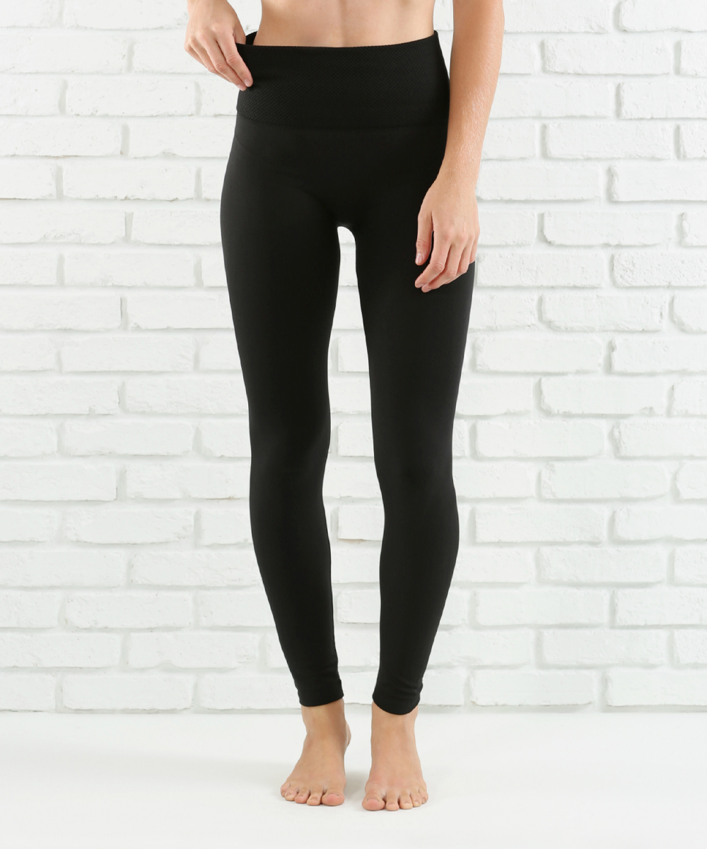 68de944fdd40f8 ... Womens BLACK Black Lined Tummy-Control High-Waist Leggings - Alternate  Image 2 ...