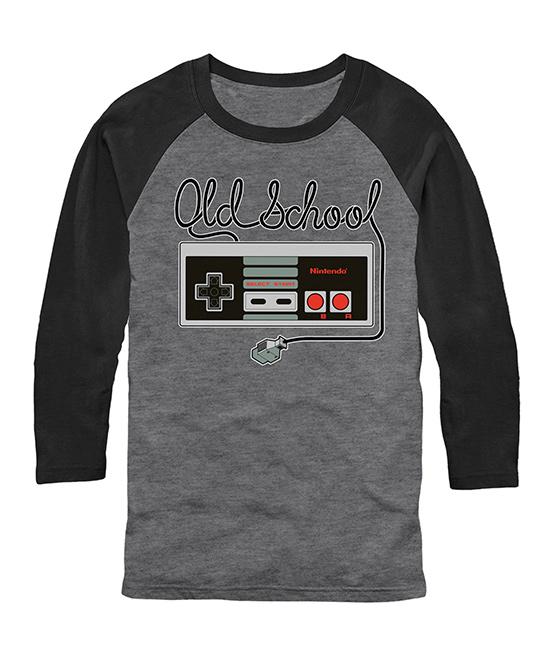 Nintendo 'Old School' Controller Raglan Tee - Men