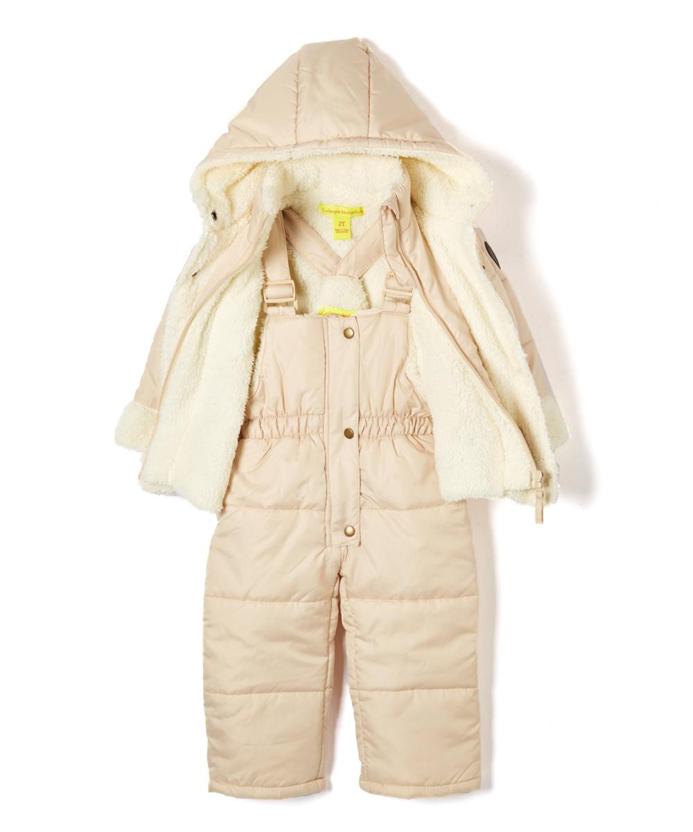 e5f8abce1 Catherine Malandrino Oatmeal Tan Snowsuit & Jacket - Infant ...