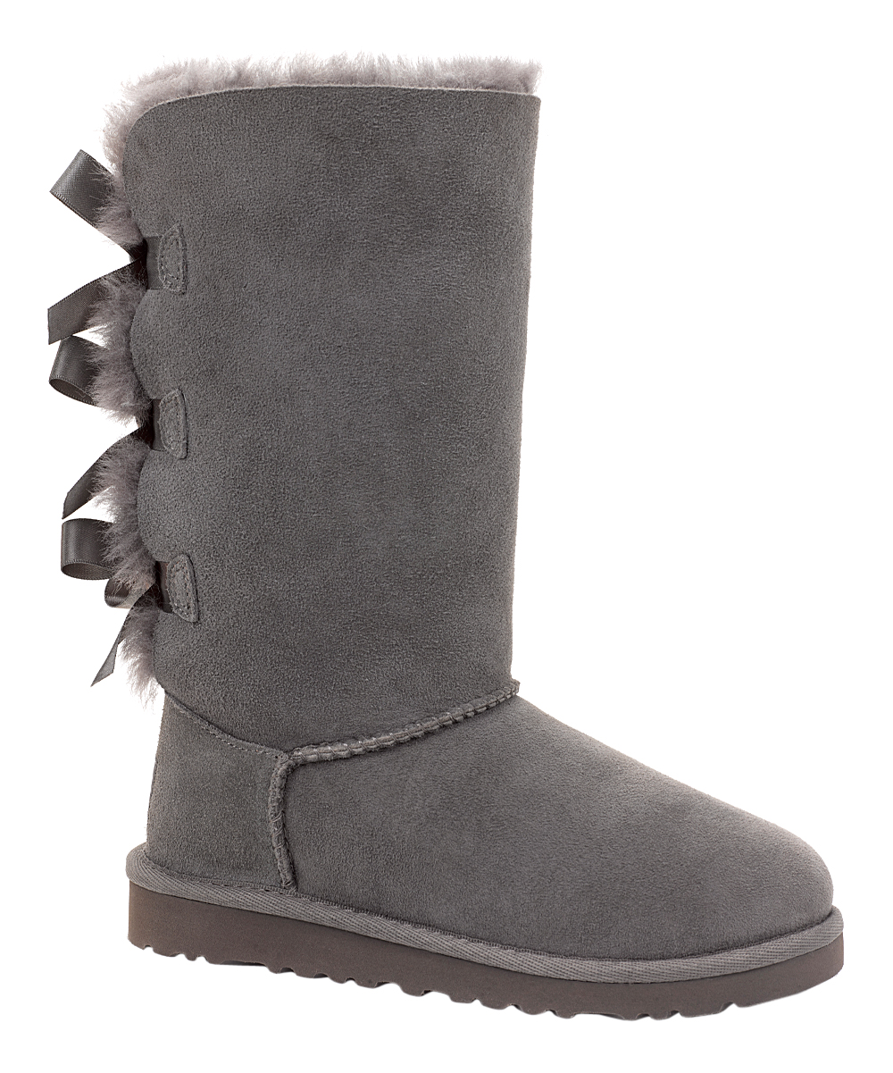 ff9d77f73fe UGG® Gray Bailey Bow Tall Boot - Kids