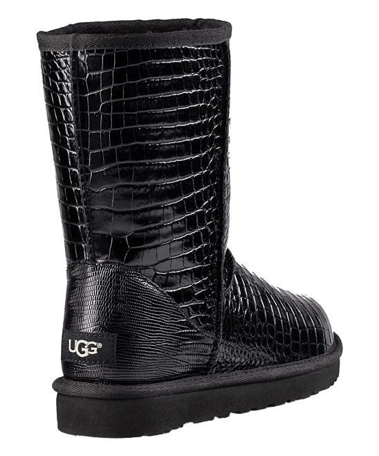 e2a43b0c08a UGG® UGG® Black Classic Short Croco Leather Boot