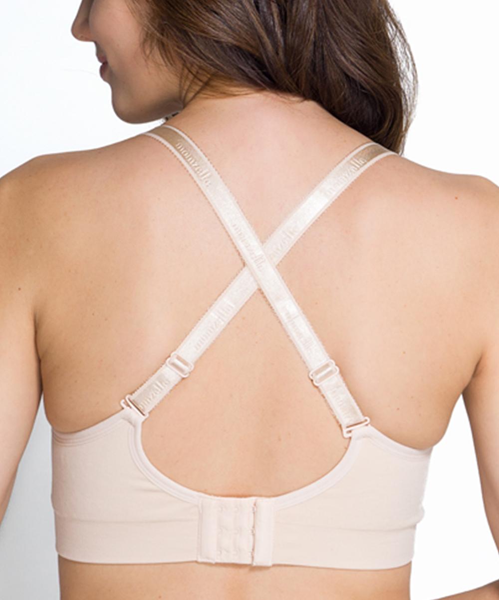 bda71961ba44b Momzelle Nude Seamless Nursing Sports Bra - Plus Too