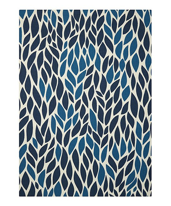 Nourison Blue Yellow Leaf Indoor Outdoor Rug Zulily