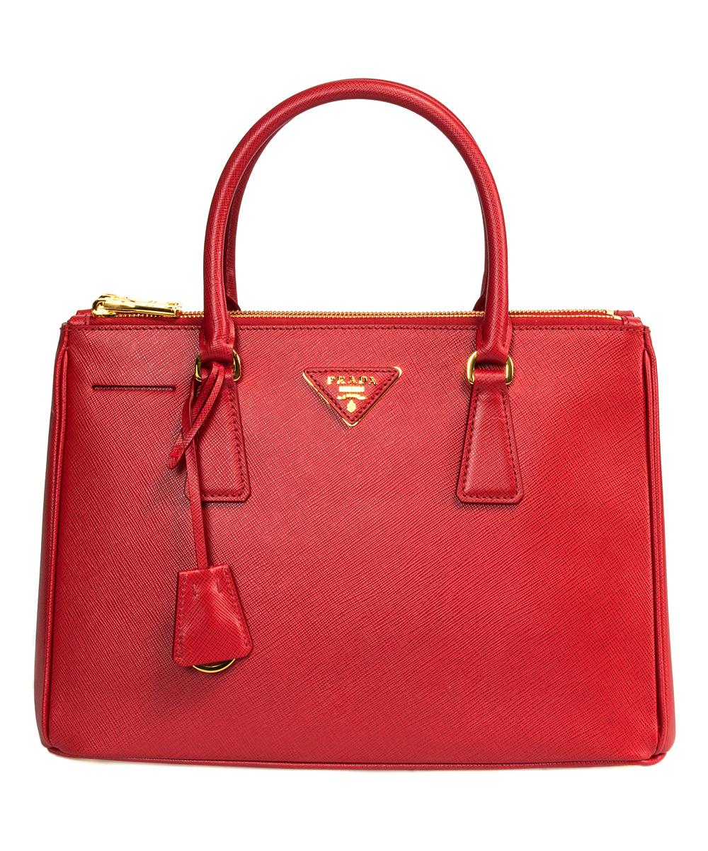 4b677dad34 Prada Red Saffiano Leather Satchel