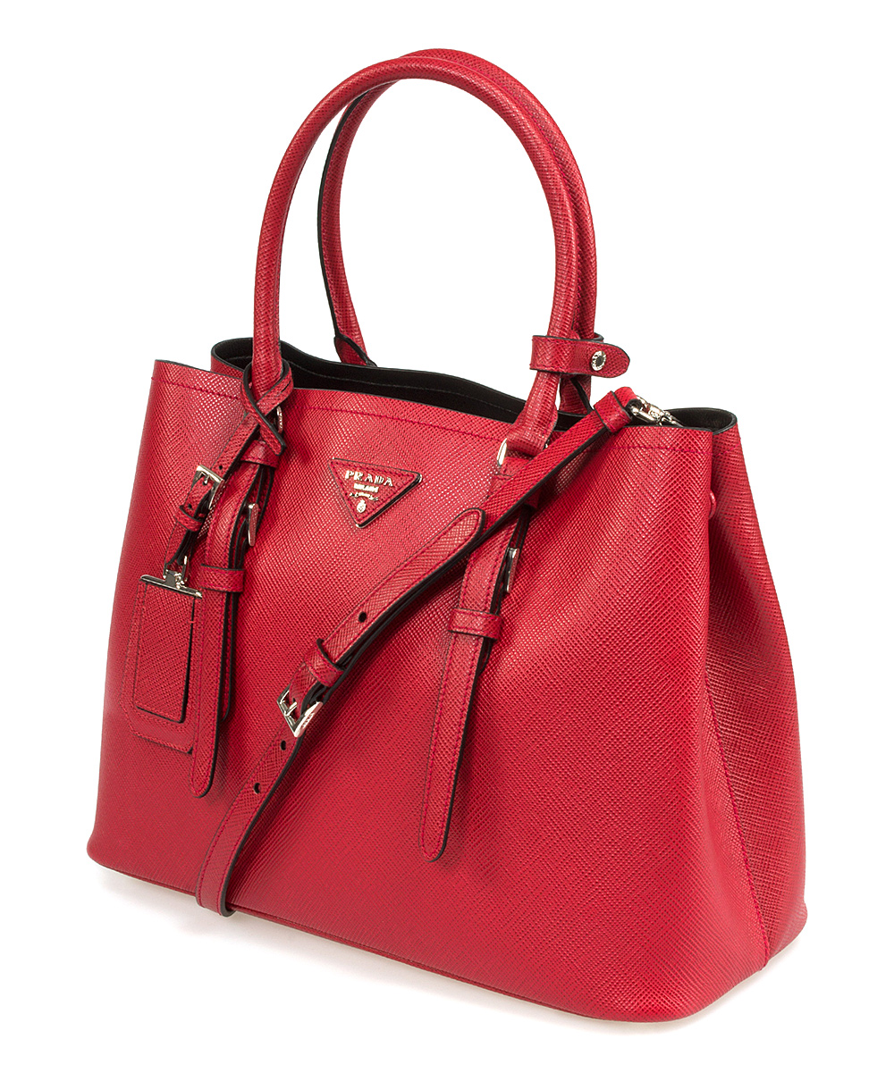 c40606c091d4 love this product Red Leather Double-Handle Tote