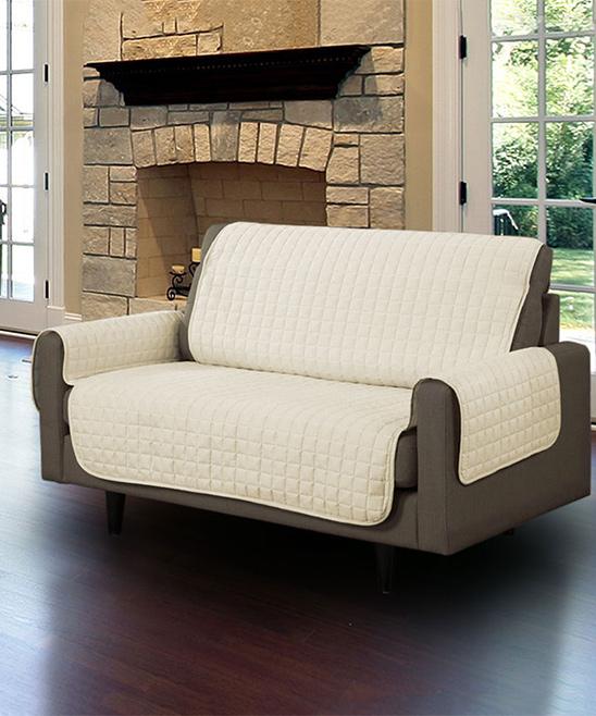 Linen Store  Indoor Furniture Covers BEIGE - Beige Microfiber Furniture Protector