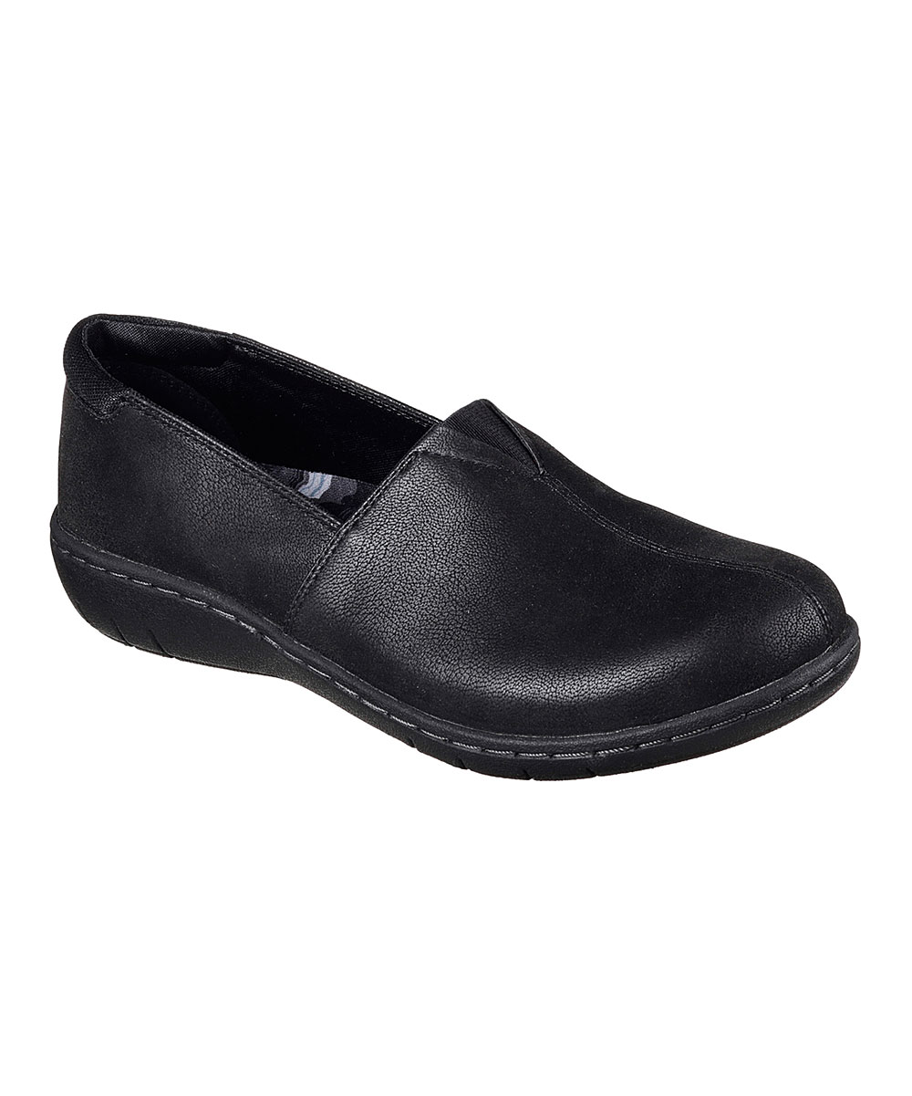 9acefac77acb Skechers Black Relaxed Fit® Washington Tacoma Leather Loafer