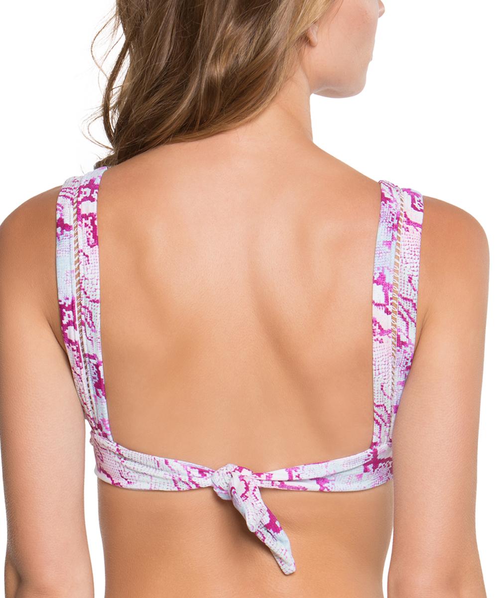 9ee44c29c52c2 ... Womens PINK MULTI Wine Smooth Operator Bralette Bikini Top - Alternate  Image 2