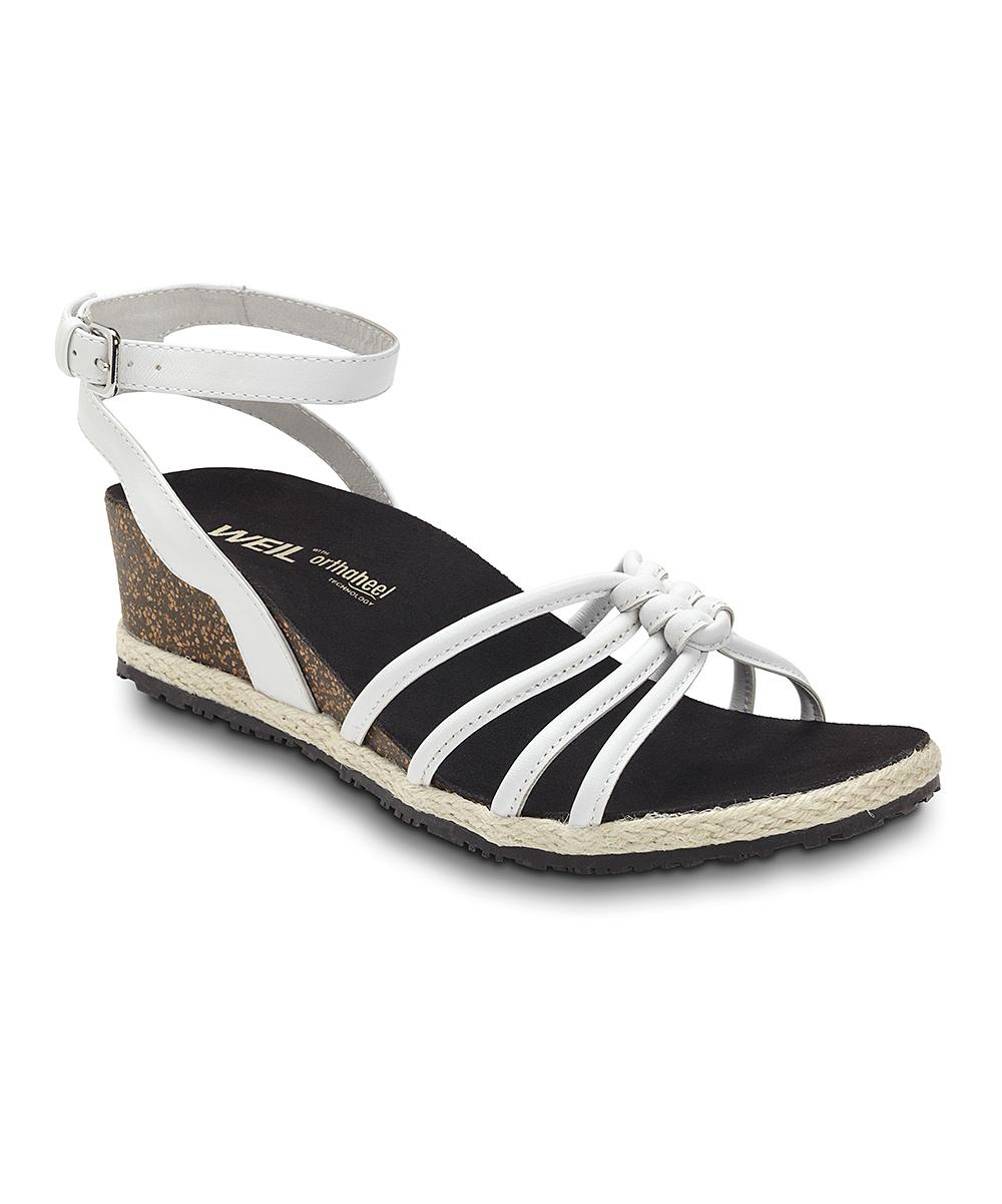 Weil White Leather DrAndrew Serenity Footwear Sandal hstdrQC