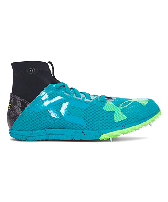 158bb06d1e Under Armour® Tahitian Teal UA Charged Bandit XC Spike Running Shoes