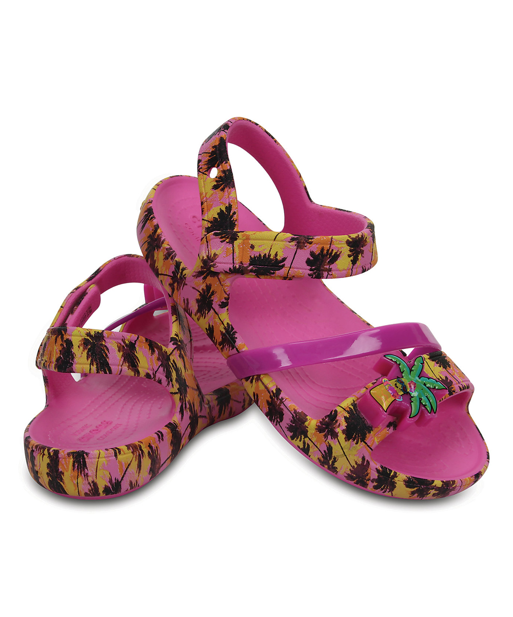 f386b9f68ab7 ... Girls Party Pink Party Pink Palm Trees Lina Lights Sandal - Girls -  Alternate Image 3 ...