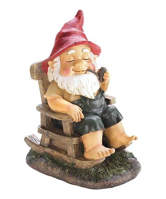 Rocking Chair Garden Gnome