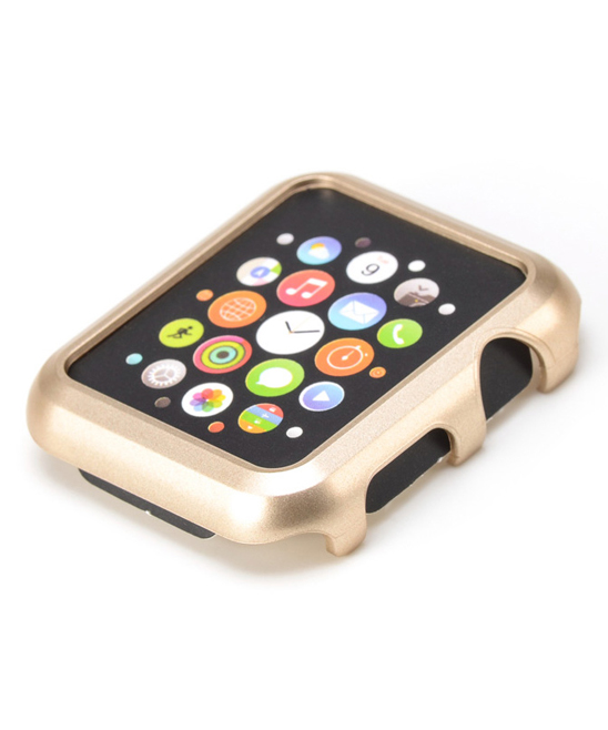 iPM  Smart Watches Gold - Gold Hard Border Case for Apple Watch