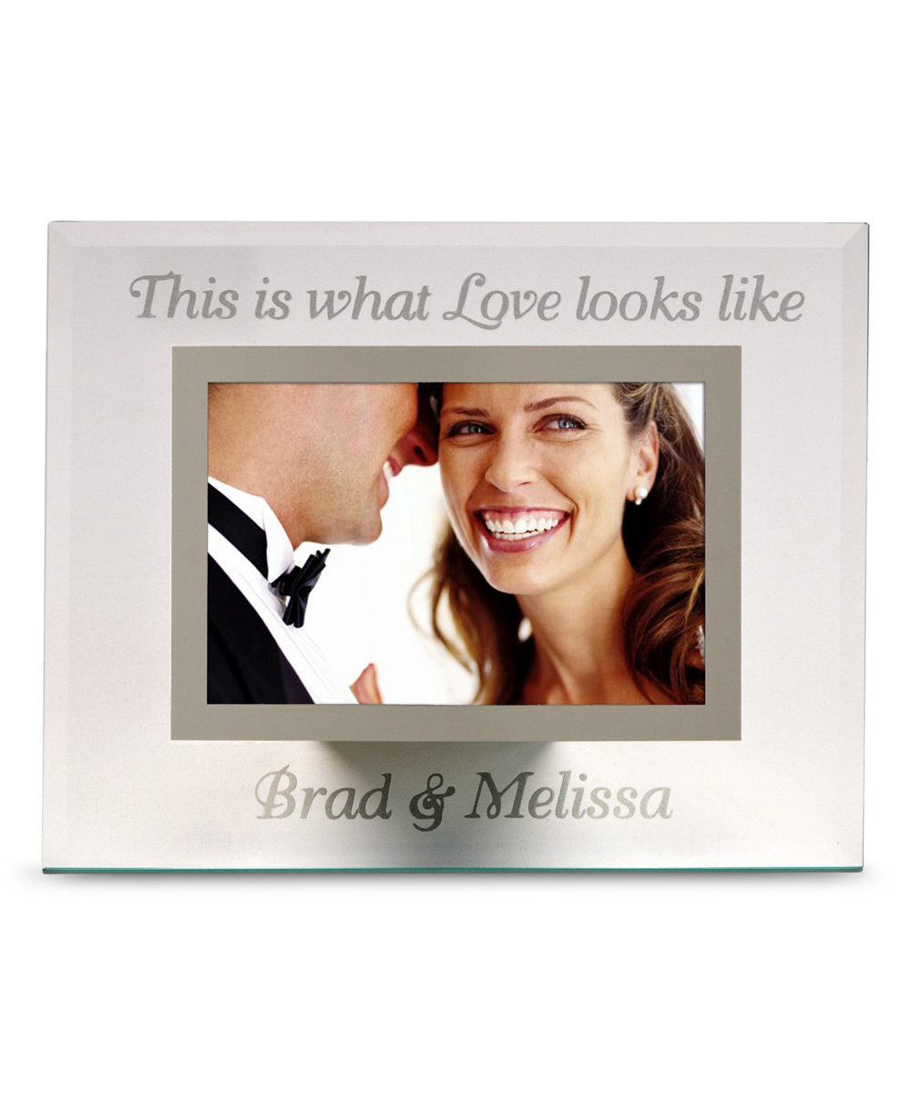 b9f2e3b63faa Personal Creations Personalized What Love Looks Like Glass Photo ...