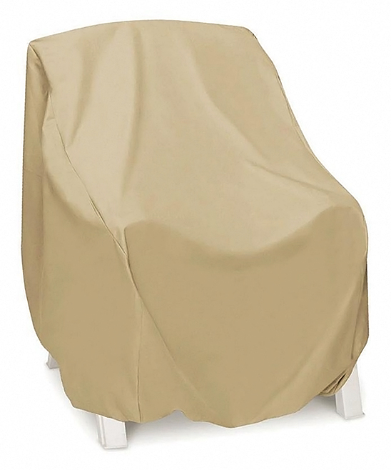 Two Dogs DesignsTM  Patio Furniture Covers Khaki - Khaki High-Back Chair Cover