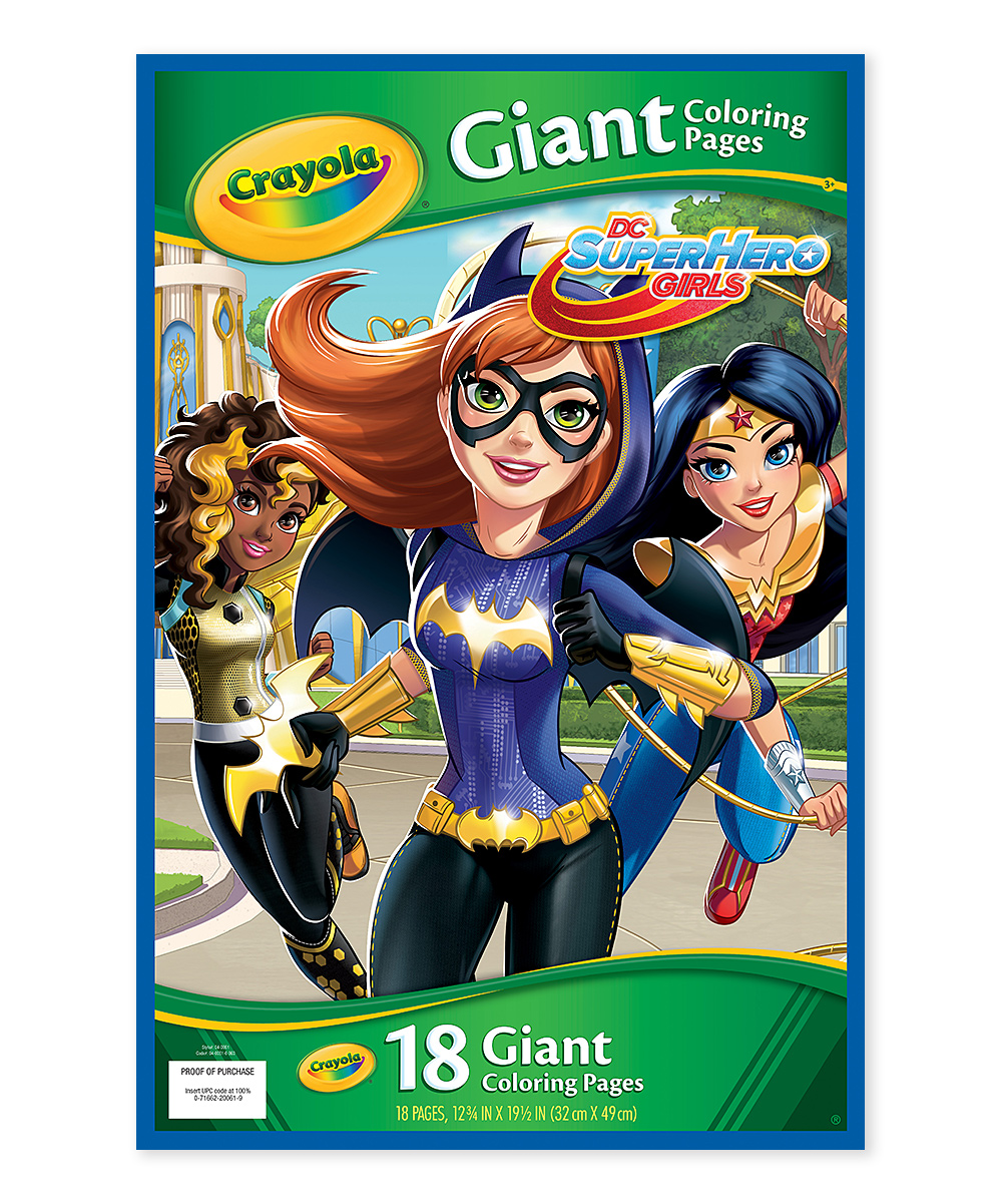 Giant Superhero Girls Coloring Book